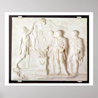ヘラクレス、c.1766 (大理石)への犠牲 ポスター