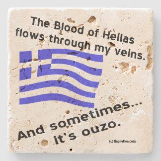 ヘラス及びOuzoの血 ストーンコースター