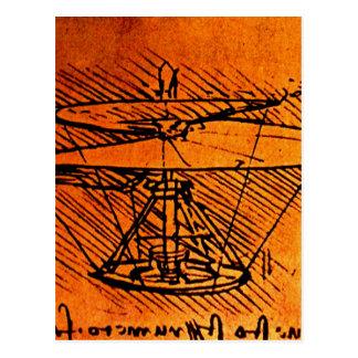 ヘリコプターのためのデザイン ポストカード