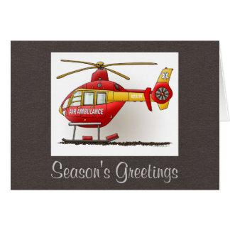 ヘリコプターの救急車 カード