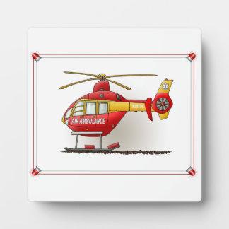 ヘリコプターの救急車 フォトプラーク