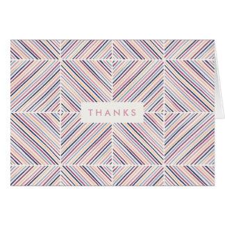 ヘリンボンダイヤモンドのサンキューカード-藤色 カード
