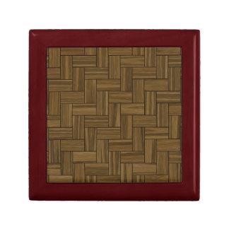 ヘリンボン木製パターン ギフトボックス