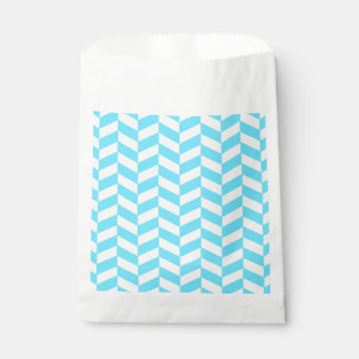 ヘリンボン白く明るく青い夏のモダンなパターン フェイバーバッグ