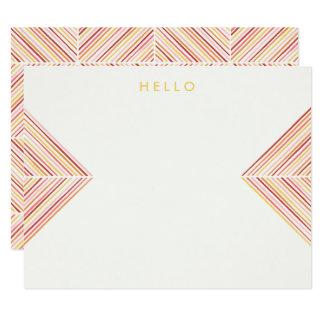 ヘリンボン矢の文房具-カナリア カード