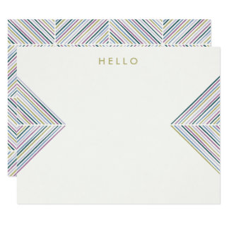 ヘリンボン矢の文房具-コケ カード
