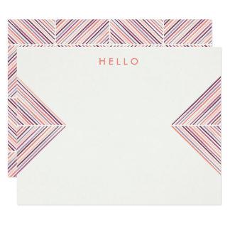 ヘリンボン矢の文房具-サケ カード