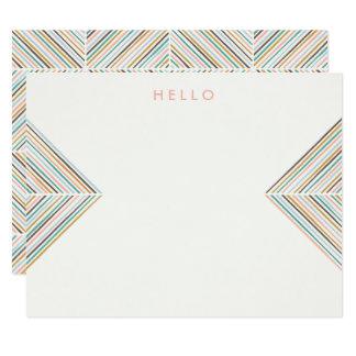 ヘリンボン矢の文房具-モモ カード