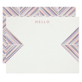 ヘリンボン矢の文房具-藤色 カード