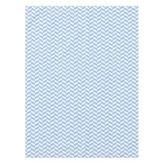 ヘリンボン青く白いビーチ色 テーブルクロス