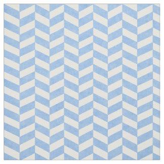 ヘリンボン青く白いビーチ色 ファブリック