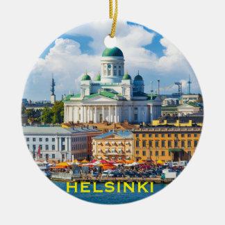 ヘルシンキフィンランドのクリスマスのオーナメント セラミックオーナメント