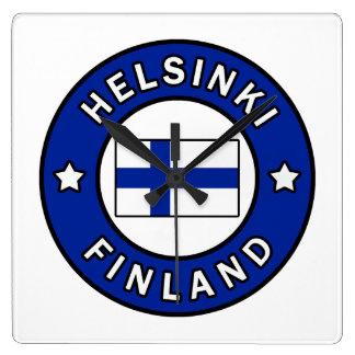 ヘルシンキフィンランド スクエア壁時計
