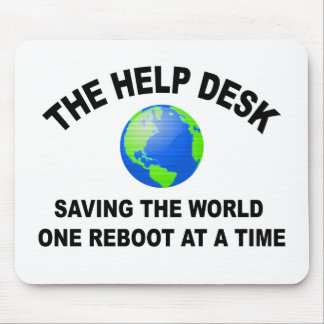 ヘルプデスク・ -世界を救うこと マウスパッド