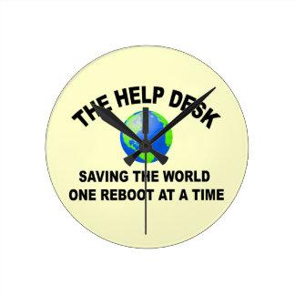 ヘルプデスク・ -世界を救うこと ラウンド壁時計