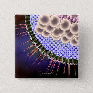 ヘルペス・ウイルス 5.1CM 正方形バッジ