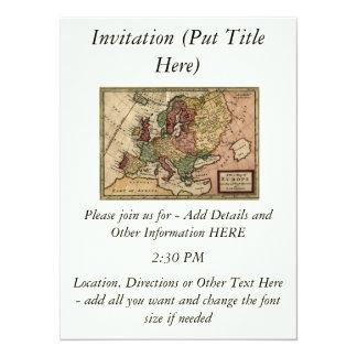 ヘルマンの情婦によるヨーロッパの好古家1721の地図 カード
