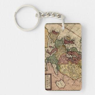 ヘルマンの情婦によるヨーロッパの好古家1721の地図 キーホルダー