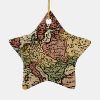 ヘルマンの情婦によるヨーロッパの好古家1721の地図 セラミックオーナメント