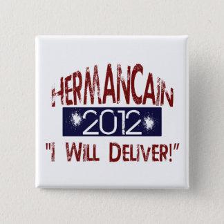 """ヘルマンカイン""""私が大統領のためにButton""""分娩する 5.1cm 正方形バッジ"""