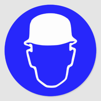 ヘルメットの印 丸形シールステッカー