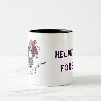 ヘルメットはいくじなしのためです ツートーンマグカップ