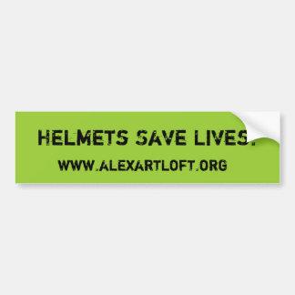 ヘルメットは生命バンパーステッカーを救います バンパーステッカー