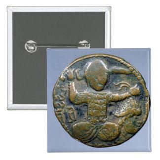 ヘルメットをかぶったトルコ人を描写する硬貨の表 5.1CM 正方形バッジ