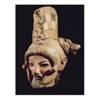 ヘルメットを身に着けている戦士の頭部 ポストカード