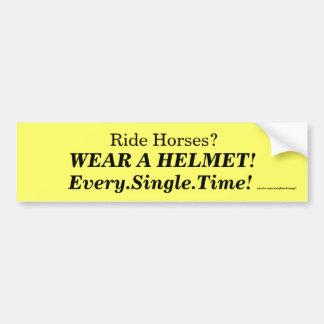 ヘルメットを身に着けて下さい! バンパーステッカー