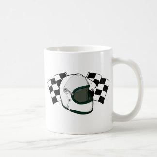 ヘルメット及び旗 コーヒーマグカップ