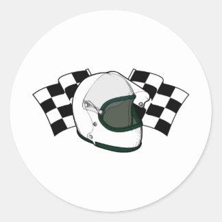 ヘルメット及び旗 ラウンドシール