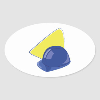 ヘルメット 楕円形シール