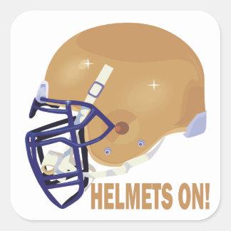 ヘルメット 正方形シール