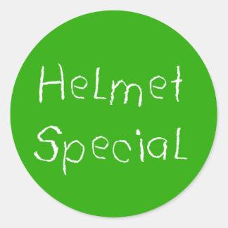 ヘルメット 特別 丸形シールステッカー