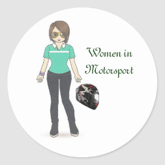 ヘルメット、Motorsportの女性 ラウンドシール