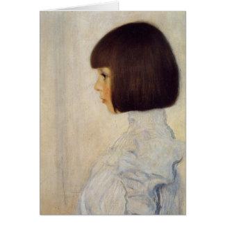 ヘレネ・クリムトの肖像 グリーティングカード