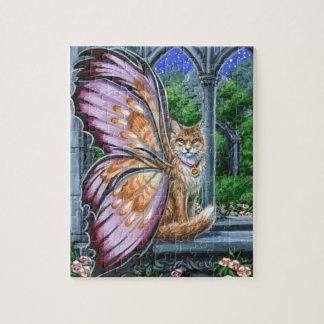 ヘレボルスのオレンジ虎猫妖精猫のパズル ジグソーパズル