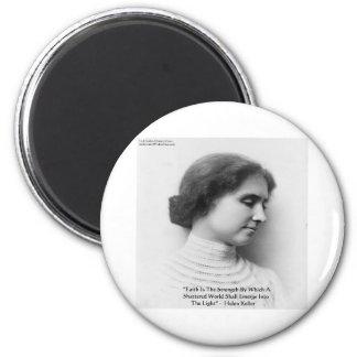 """ヘレン・ケラーの""""信頼または強さ""""の知恵の引用文のギフト マグネット"""
