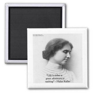 """ヘレン・ケラーの""""生命冒険""""の知恵の引用文のギフトです マグネット"""