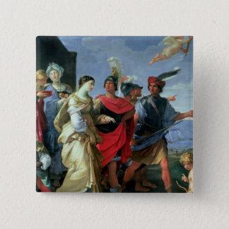 ヘレン、c.1626-31の外転 5.1cm 正方形バッジ