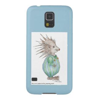 ヘンリーのハリネズミのSamsung S5の例の青のアクセント Galaxy S5 ケース