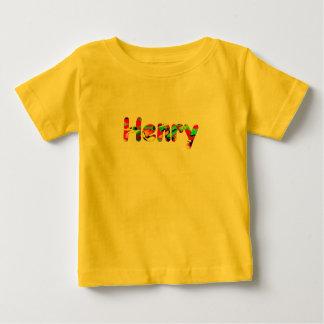 ヘンリーの黄色く短い袖のTシャツ ベビーTシャツ