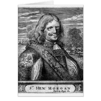 ヘンリーモーガンの海賊ポートレート グリーティングカード