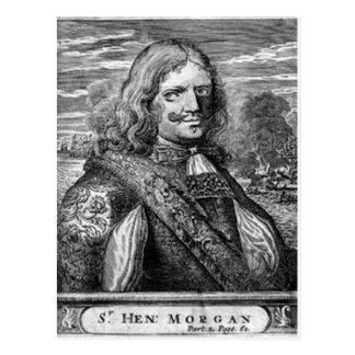 ヘンリーモーガンの海賊ポートレート ポストカード