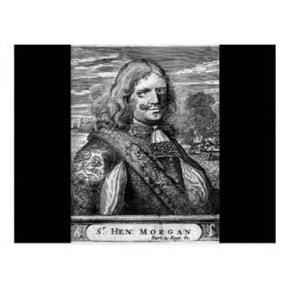 ヘンリーモーガンの海賊ポートレート 葉書き