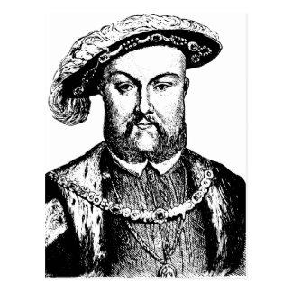 ヘンリーヴィンテージの黒い及び白人王第8 VIII ポストカード