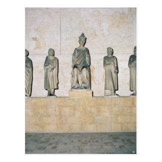 ヘンリー七世の神聖ローマ皇帝の彫像 ポストカード