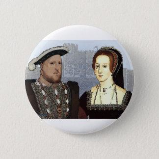 ヘンリー八世およびアンBoleyn 5.7cm 丸型バッジ