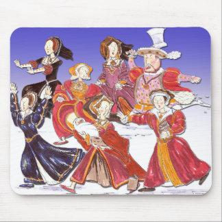 ヘンリー八世および彼の6人の妻の漫画のマウスのマット マウスパッド